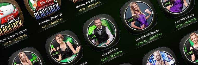 888 Casino Live dealer Blackjack