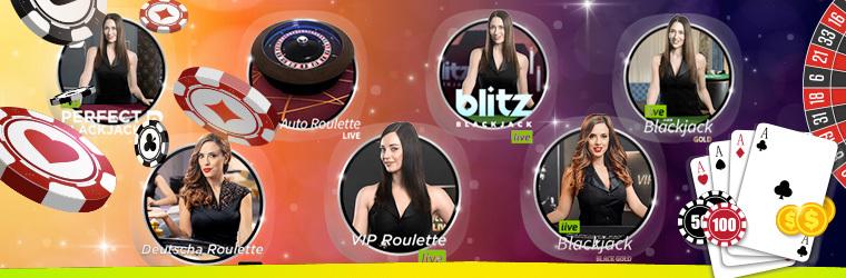 888 Live Dealer Casino games